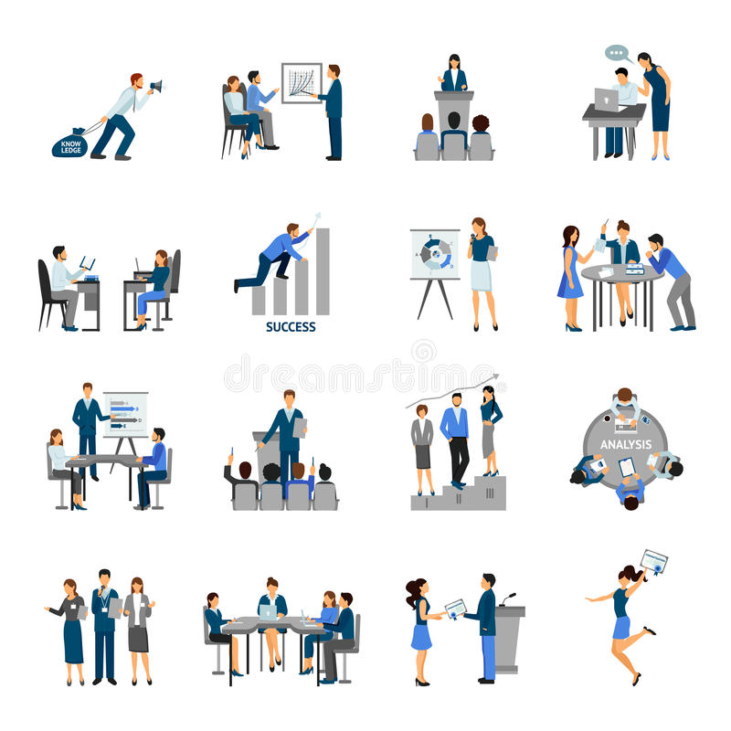Download Business Training Set stock vector. Illustration of people - 62309978