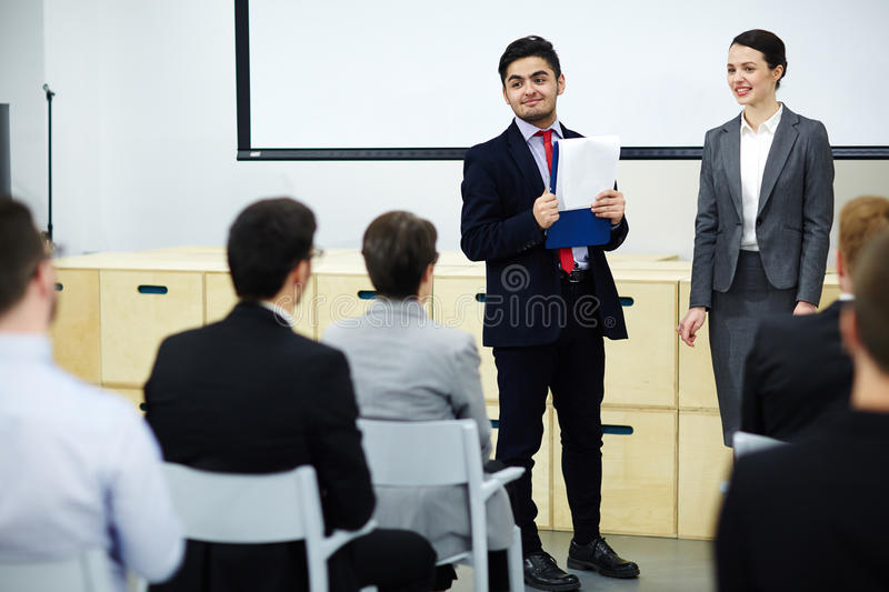 Business training royalty free stock image