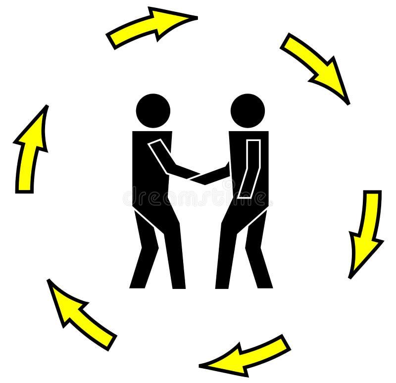 Business transaction royalty free illustration