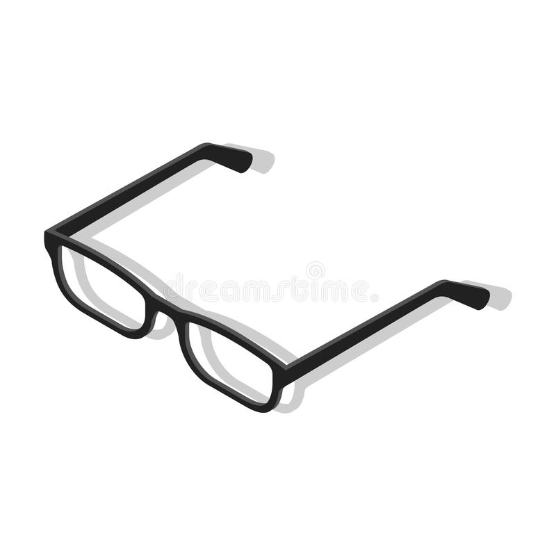 Business transparent people glasses icon, isometric style vector illustration