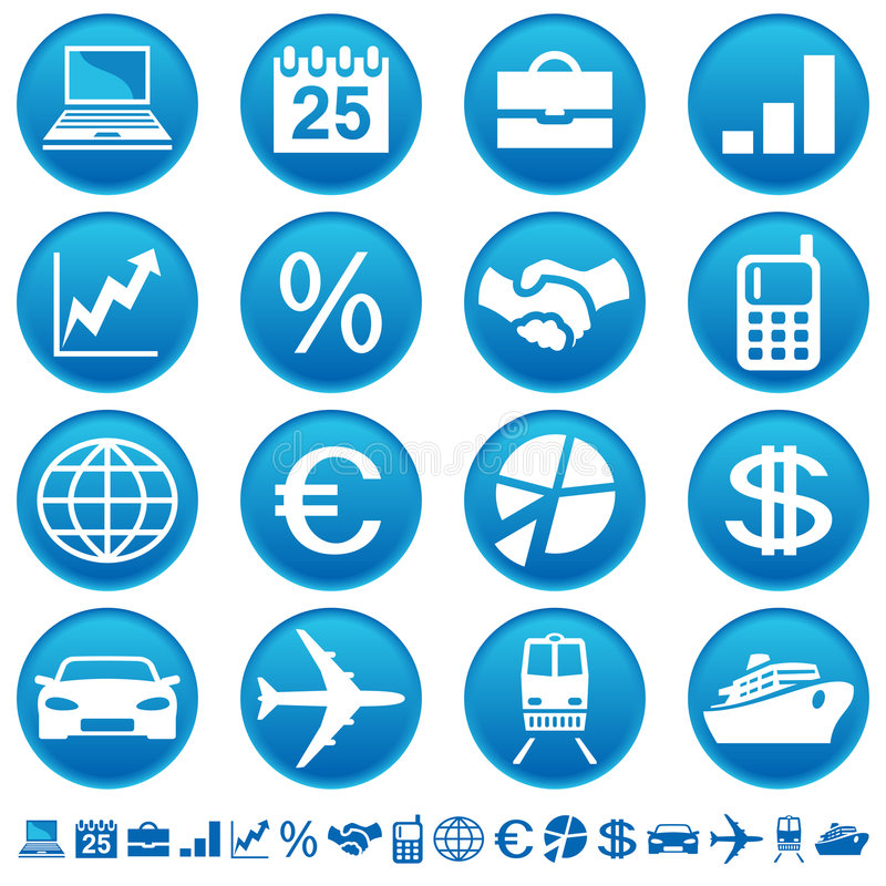 Business & transport icons royalty free illustration