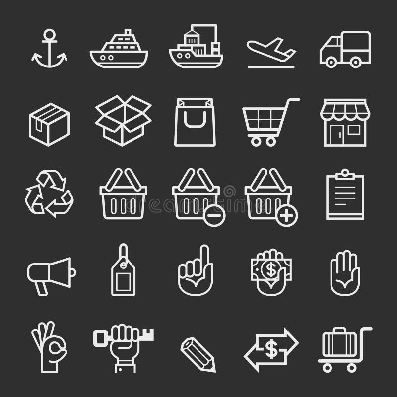 Business transportation element icons. stock illustration