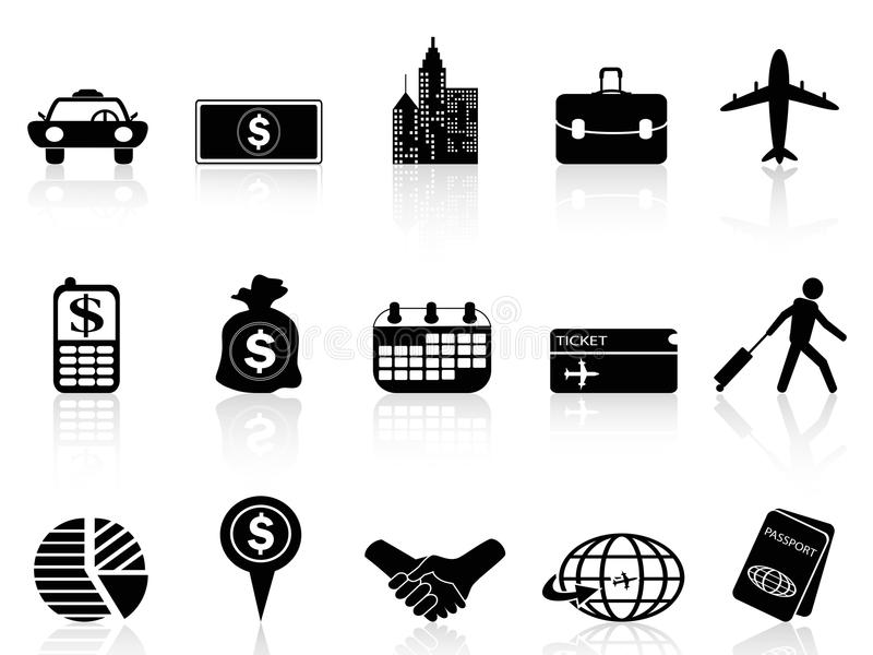 Download Business Travel Icons Royalty Free Stock Image - Image: 33588576