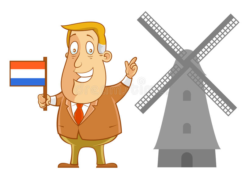 Business travel to Holland royalty free illustration