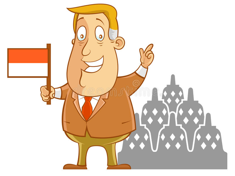 Business travel to Indonesia royalty free illustration
