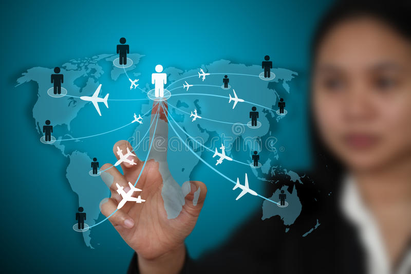 Business travel transport concept vector illustration