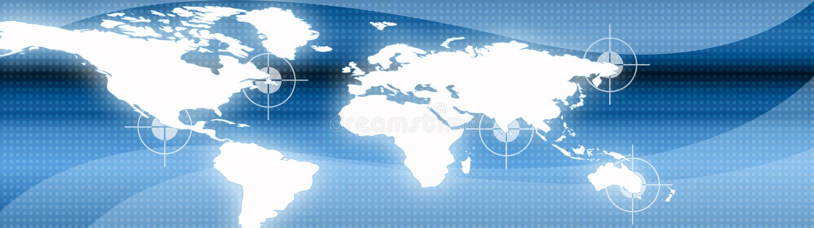 Business and Travel Web header royalty free illustration