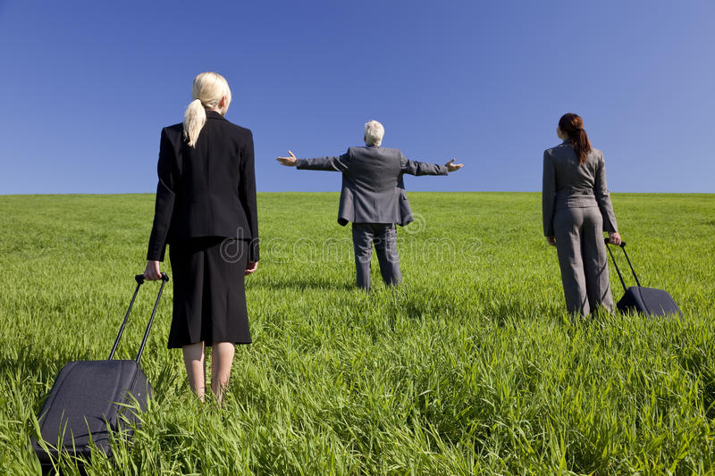 Download Business Travellers Find What They Are Looking For Stock Image - Image: 9596973