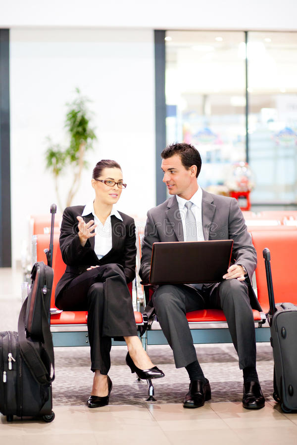 Download Business Travellers Waiting Flight Stock Photos - Image: 23911673