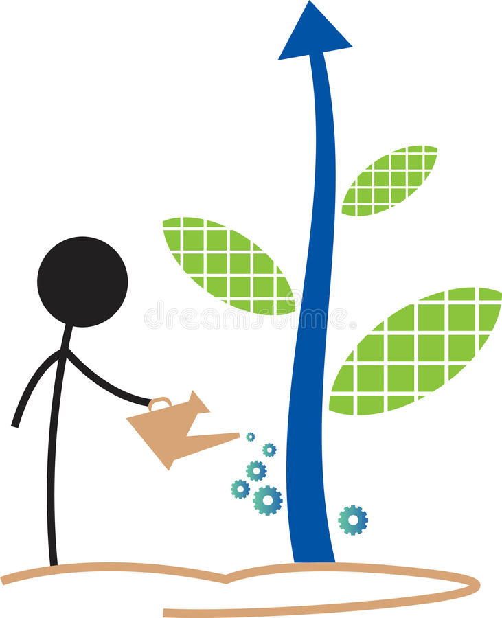 Business tree. Isolated illustrated image stock illustration