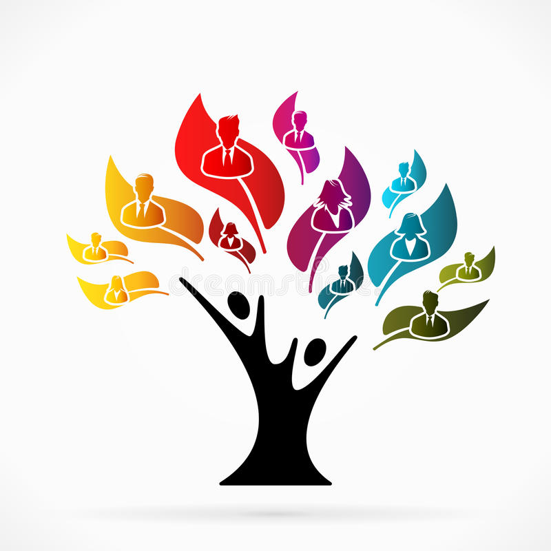 Business tree vector illustration