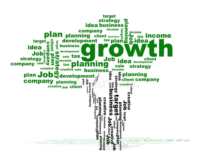 Business tree with words stock illustration