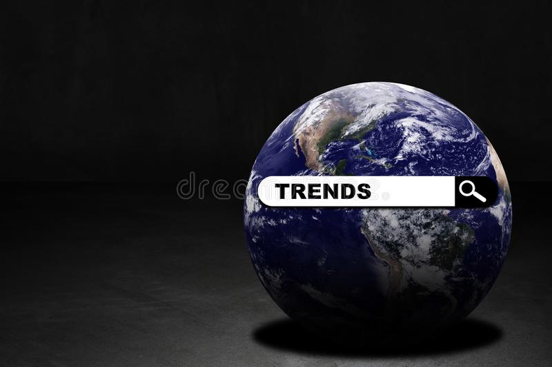 World Trends Concept Background. Business trends concept, digital search on the internet, Elements of this image furnished by NASA royalty free stock photo