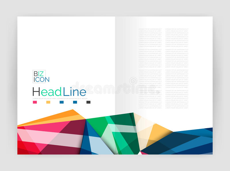Business triangle design modern business annual report flyer stock illustration
