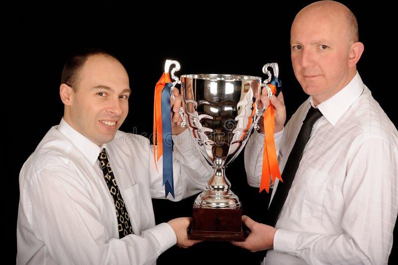Business trophy winners stock photo