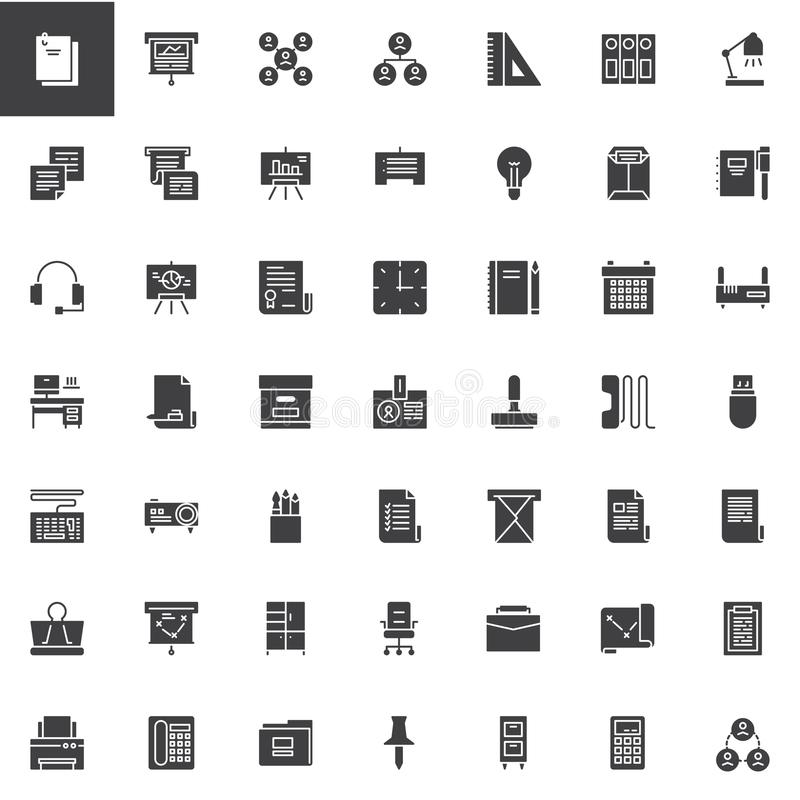 Business universal vector icons set vector illustration