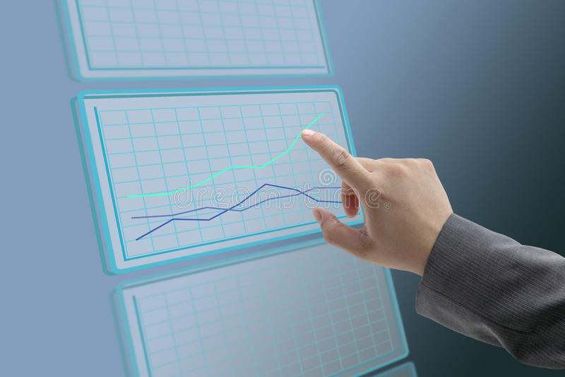 Business up trend graph stock photos