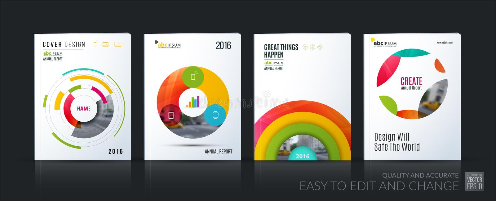 Download Business Vector. Brochure Template Layout, Cover Soft Design Ann Stock Vector - Illustration of home, circle: 83438237