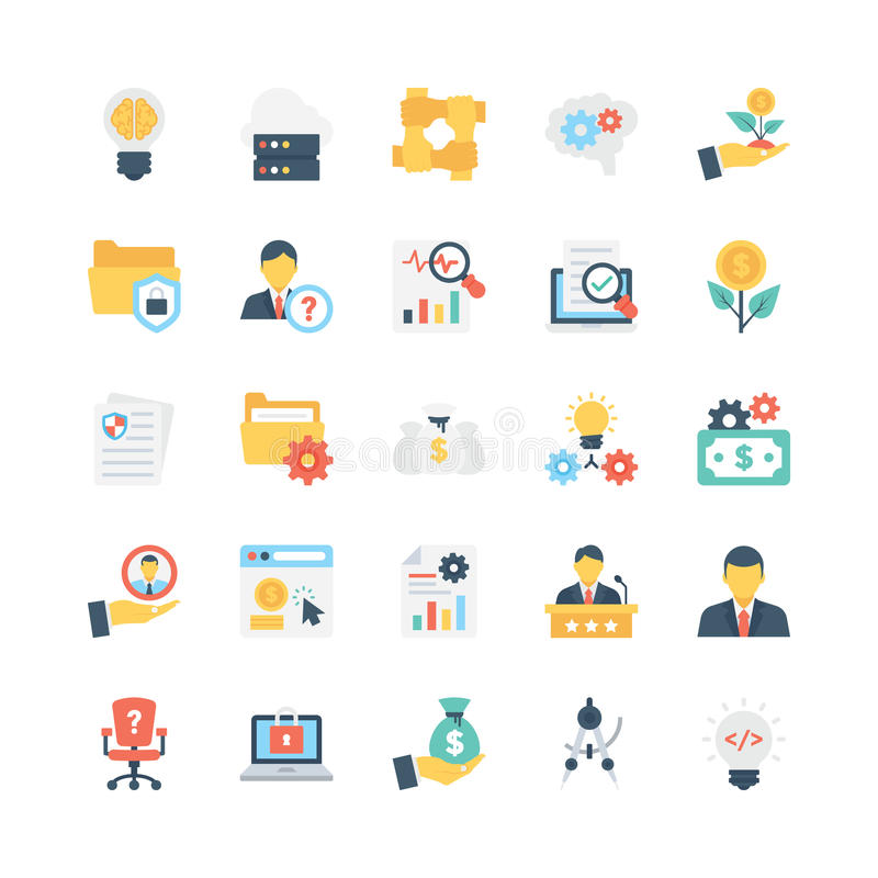 Business Vector Icons 10 royalty free illustration