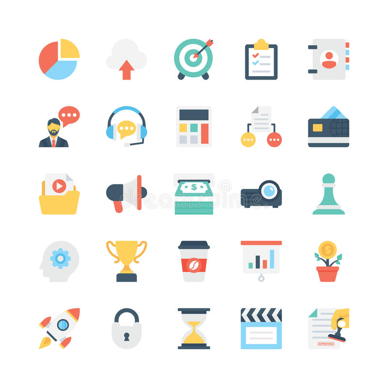 Business Vector Icons 1 royalty free illustration