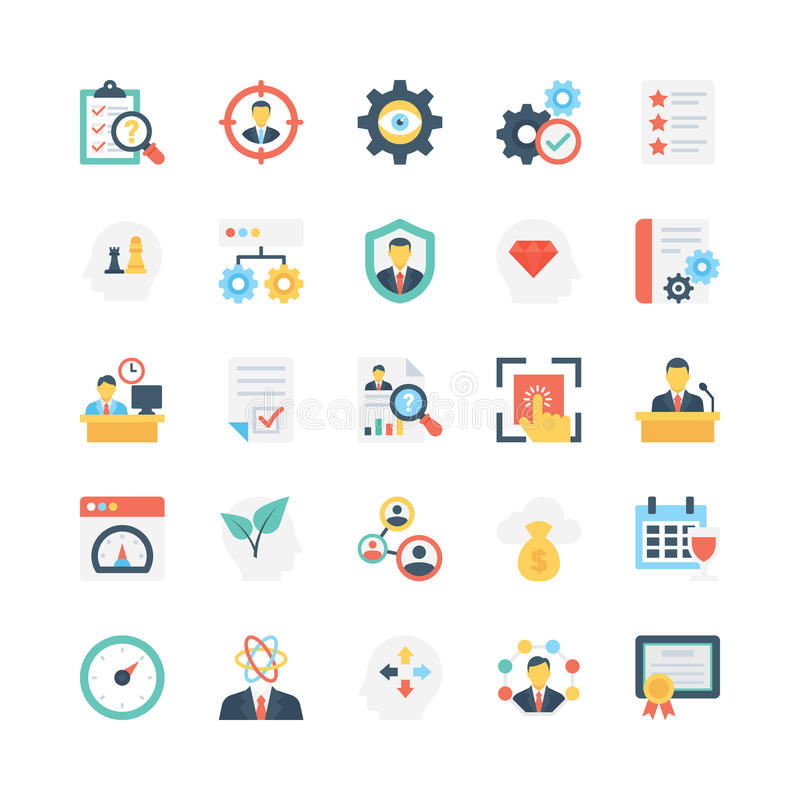 Business Vector Icons 8 stock illustration