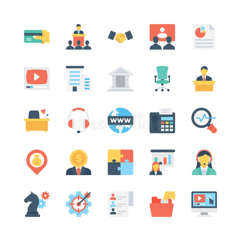 Business Vector Icons 5 royalty free illustration