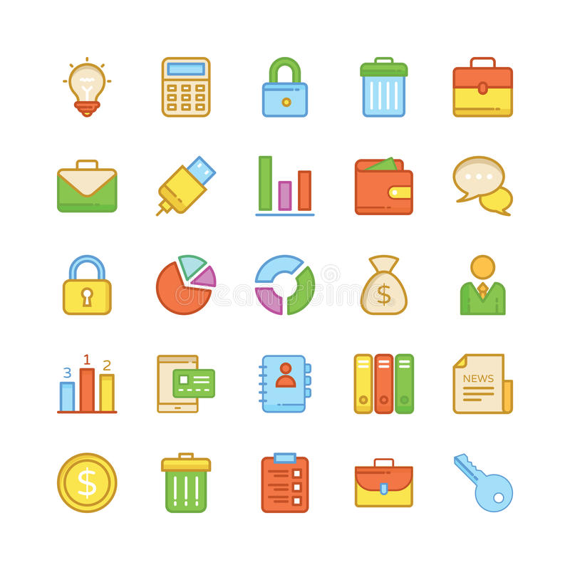 Business Vector Icons 2 vector illustration
