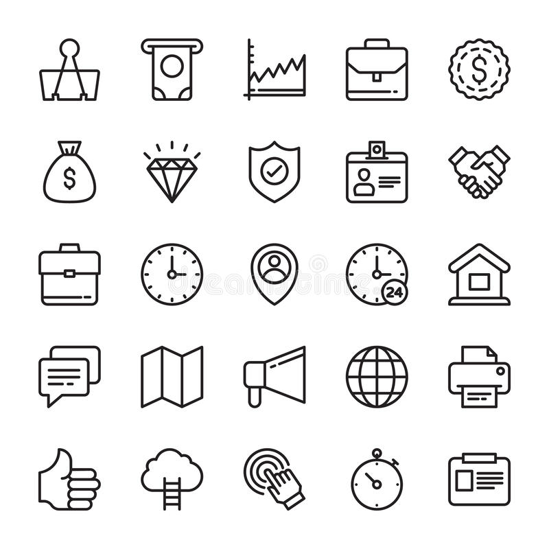 Business Vector Icons 6 stock illustration