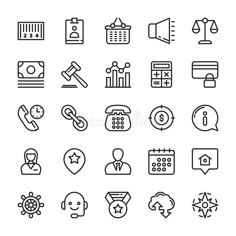 Business Vector Icons 5 vector illustration