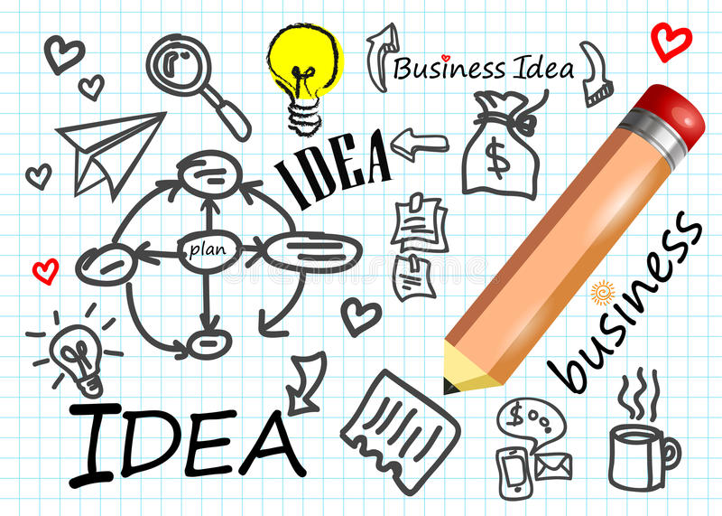 Business vector idea icon symbol diagram. Technology royalty free illustration