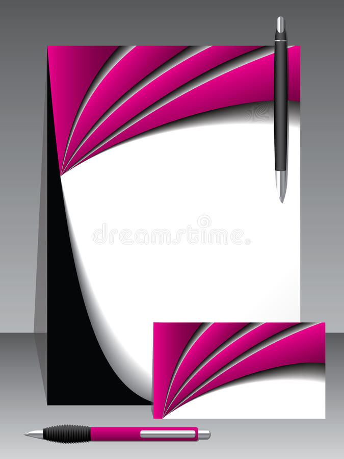 Business vector set with two pens vector illustration