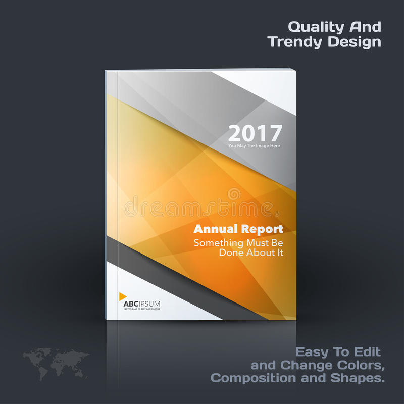 Business vector template, brochure design, abstract annual report, cover modern layout. Flyer in A4 with colourful diagonal triangular shapes for print royalty free illustration
