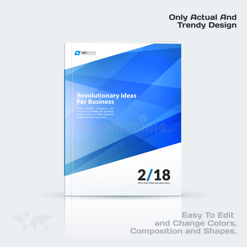 Business vector template, brochure design, abstract annual report, cover modern layout. Flyer in A4 with colourful diagonal triangular shapes for print vector illustration