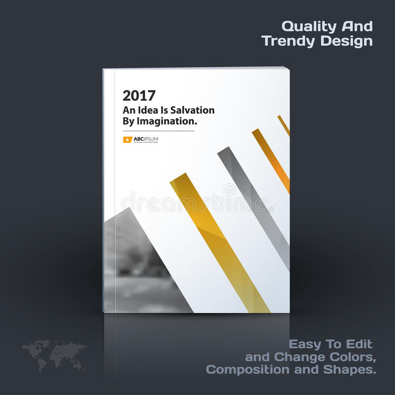 Business vector template, brochure design, abstract annual report, cover modern layout, flyer in A4 stock illustration