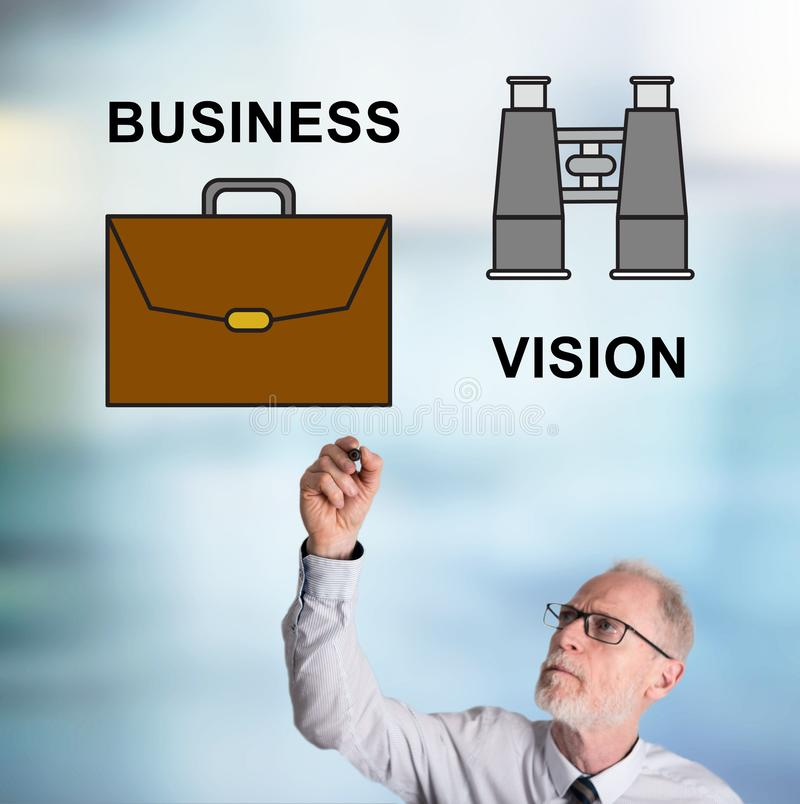 Businessman drawing business vision concept royalty free stock photos