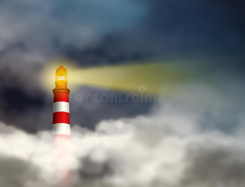 Lighthouse Gives Hope Vision and Guidance royalty free stock images