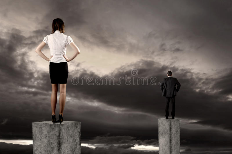Business vision concept. Business vision and strategy concept with businessman stock photos