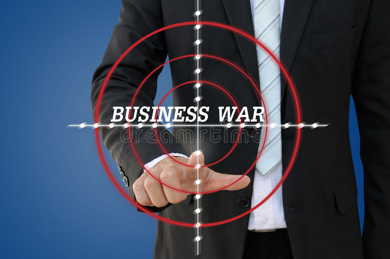 Business War Games of competition concept royalty free stock photo