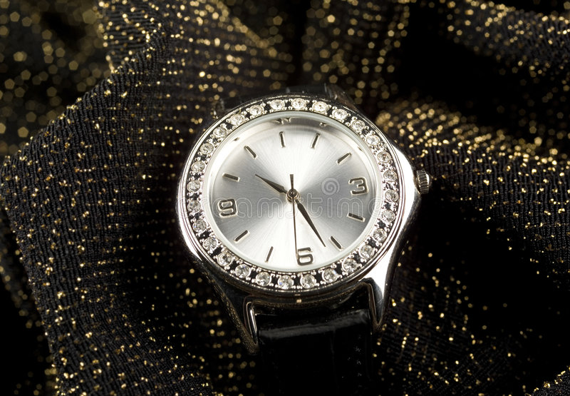 Business watch. Photo of expensive watch close up royalty free stock images