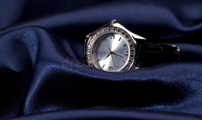 Business watch. Photo of expensive watch close up royalty free stock image