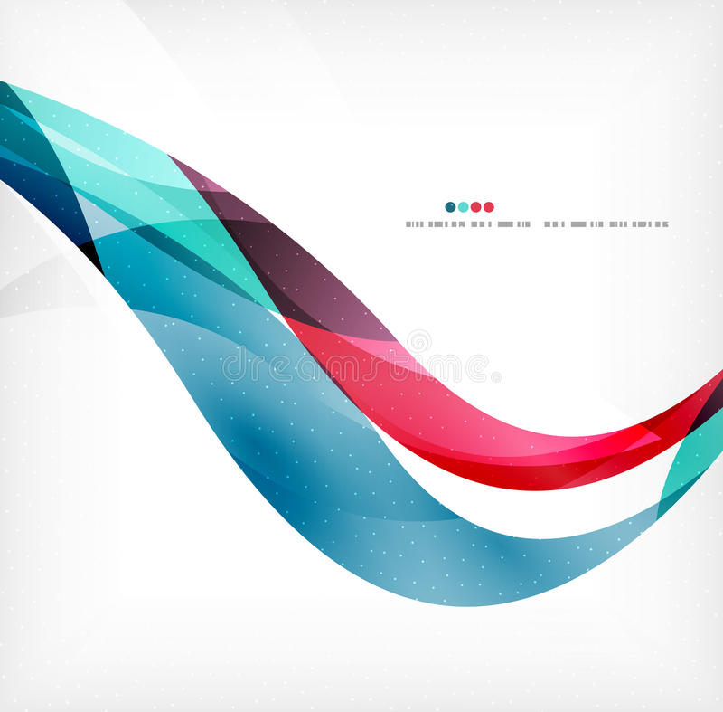 Business wave corporate background. Flyer, brochure design template royalty free illustration