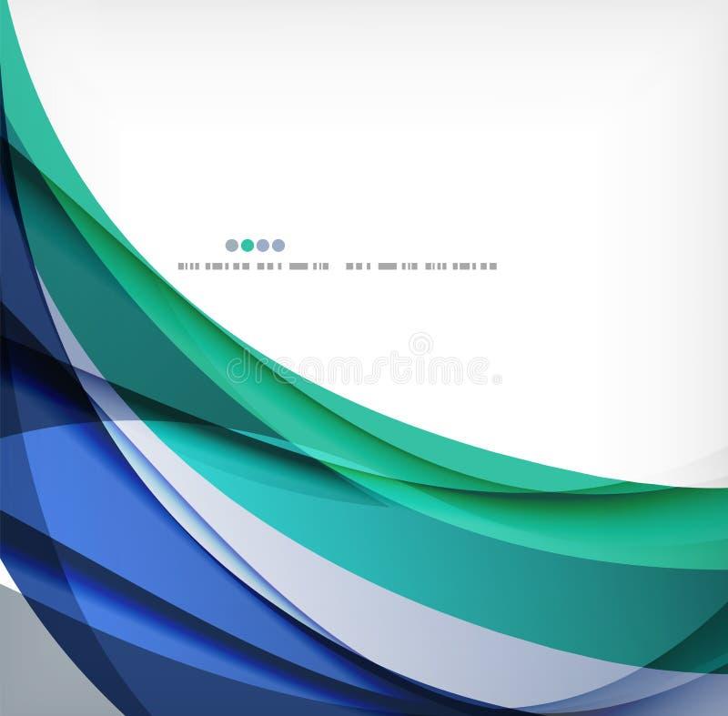 Business wave corporate background. Flyer, brochure design template royalty free illustration