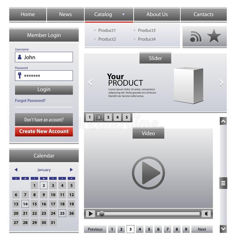 Download Business Web Design Elements Stock Vector - Image: 21040498