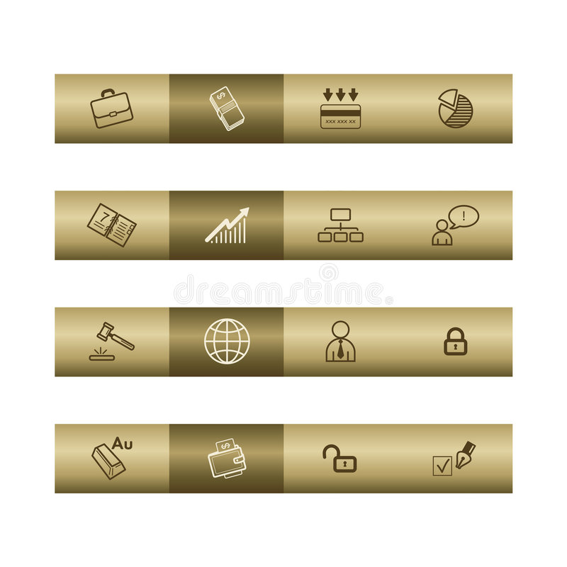 Download Business Web Icons On Bronze Bar Stock Vector - Illustration of diagram, market: 8534502