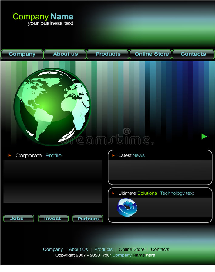 Business web site template stock images