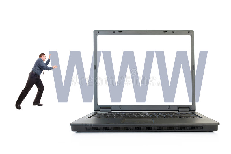 Business website stock photo