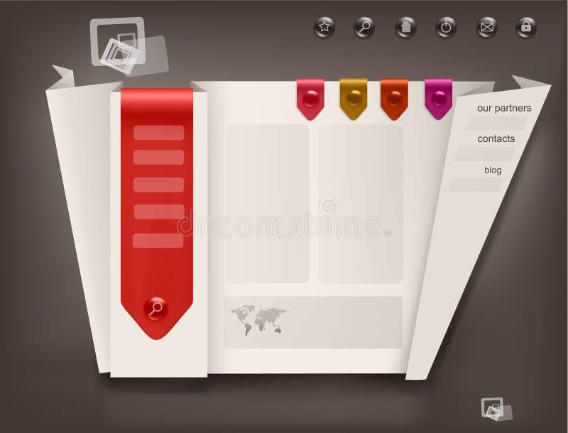 Download Business Website Design Template. Vector Stock Vector - Image: 20393722