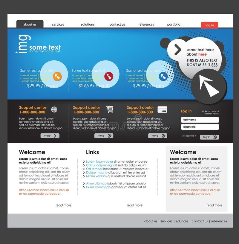 Business website template. Vector business website template design