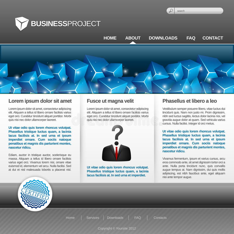Download Business website template stock illustration. Image of graphic - 25899087
