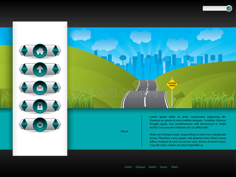 Download Business Website Template Design With Road Picture Stock Vector - Illustration: 26819399
